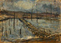 Outside Arras by Cecil Constant Philip Lawson, 1917-18.