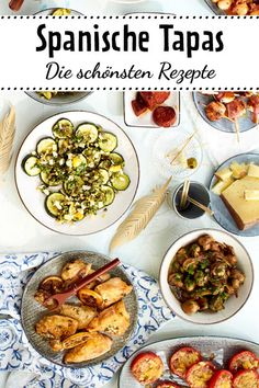 Tapas – Rezepte für spanische Häppchen are small hearty appetizers from Spain: Whether Pimientos de padron, spicy chorizo ​​or with our recipes the spanish evening is guaranteed! Spanish Appetizers, Spanish Tapas, Finger Food Appetizers, Tapas Recipes, Appetizer Recipes, Dinner Recipes, Healthy Recipes, Cooker Recipes, Delicious Recipes