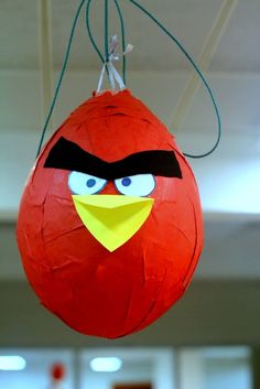 Angry Birds pinjata ;)  We shall find this in Nana's backyard this summer!