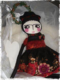 OOAK Art Doll Frida Kahlo Doll Folk DollTattooed от LARION на Etsy, Ft17000.00