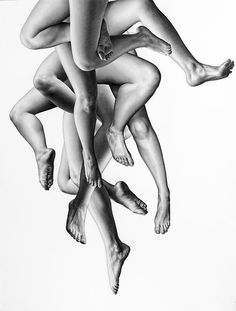 Life-Sized Charcoal Drawings by Leah Yerpe