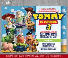 Toy Story Invitation  Toy Story Invite  Disney by MaluhiaPrints