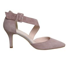 Office Wallace Point Court Shoes Grey Suede - Mid Heels