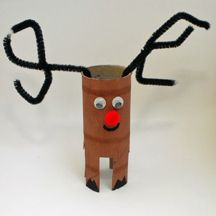 Christmas craft - toilet paper roll reindeer!