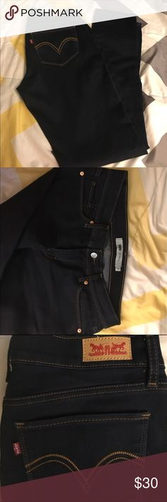 Jeans Its a dark navy blue levis jeans size 9  skinny its new without tags Levi's Jeans Skinny