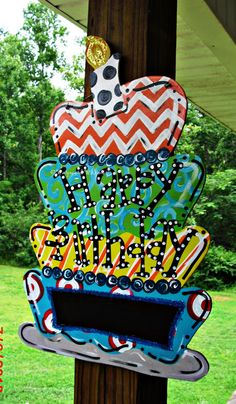 Chalkboard Birthday Custom for you Wood Cut by TheWaywardWhimsy, $35.00