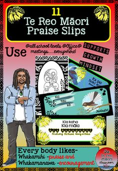 "Everybody loves giving and receiving praise and affirmations! These beautiful slips are not only for any teaching level but for work and the office too! People would love to receive a compliment or some encouragement and while doing so getting more te reo out there.==========*=======================================*===========I produced these as someone said ""I'm tired of only being able to say ""Ka pai!""Now you can have a range of 11 other whakamihi.These can be laminated and made into…"