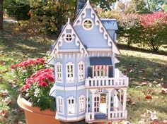 Victorian Wooden Hand Painted/Constructed Doll House by judipflynn