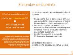 06 Más información: http://t.elblogsalmon.com/entorno/el-deposito-legal-para-las-webs-otra-carga-burocratica-mas-proximamente http://www.posicionamientowebysem.com/web/mi-negocio-ha-de-estar-en-internet/ http://neothek.com/dominios/Espana/elegir-dominio/