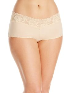 55cf3fdc7ba Cosabella Womens PlusSize Never Say Never Cheekie Cotton Hotpant Panty  Blush 20 22  gt