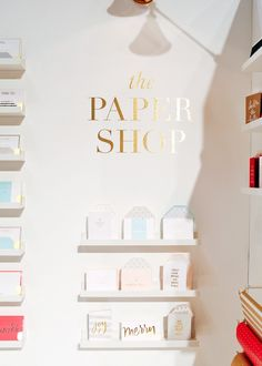 National Stationery Show Sugar Paper / Oh So Beautiful Paper Stationary Store, Stationery Shop, Library Cafe, Retail Merchandising, Retail Displays, Paper Store, Counter Design, Desk Inspiration, Shop Interiors