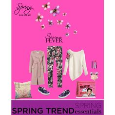 Floral Spring by farka-id on Polyvore featuring L.K.Bennett, Abercrombie & Fitch, Tommy Hilfiger, Charlotte Olympia, Guerlain and Clarins
