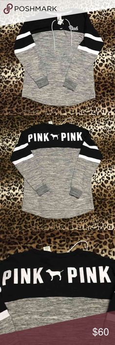 Htf vs/pink oversized colorblock crew ❌NO TRADES❌ ❌PRICE IS FIRM❌ 10% cheaper on mercari 20% cheaper on vinted PINK Victoria's Secret Tops Sweatshirts & Hoodies