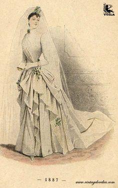 1887 High Fashion, Women's Fashion, Fashion Outfits, Bridal Fashion, Western Outfits, Fashion Plates, Victorian Era, Fashion Prints, Couture Fashion