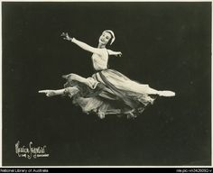 Moscelyne Larkin, 1925 - 2012. Shown here in a Ballet Russe de Monte Carlo photo 1948-1949, she later co-founded the Tulsa Ballet. She was one of the Five Moons, Native American ballerinas from Oklahoma to gain international fame.