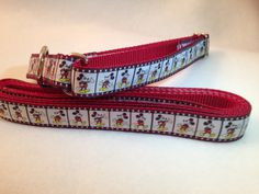 Mickey Mouse Dog Collar, Mickey Mouse Martingale Dog Collar, Mickey Mouse Leash