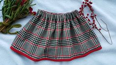 Red and black plaid skirt 2T by AlbinaBabyandKids on Etsy