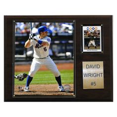 MLB 12 x 15 in. David Wright New York Mets Player Plaque - 1215DWRIGHT