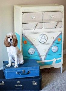 this is utterly amazing, how creative!! VW Dresser