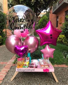 Balloon Decorations, Birthday Party Decorations, Birthday Parties, Birthday Gifts, Anniversary Gift Ideas For Him Boyfriend, Flower Bouqet, Ideas Para Fiestas, Simple Gifts, Birthday Balloons