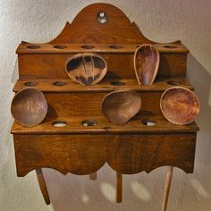 Traditional Welsh spoon rack