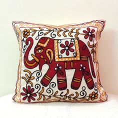 Indian pillow cover/Indian Home decor/pillow 16 X 16 by IndiHaat, $14.00