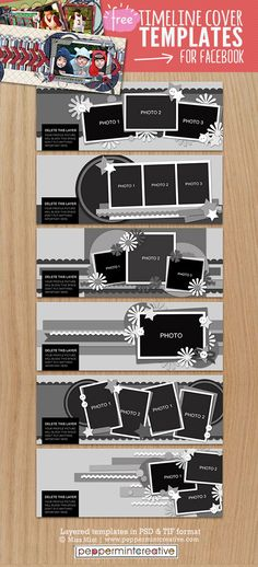 23 free facebook cover photoshop templates timeline photo