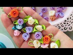 ARTESANATO ♥ Como fazer rosinhas rococó vintage ♥ Irene Sarranheira - YouTube Ribbon Art, Ribbon Hair Bows, Diy Ribbon, Ribbon Crafts, Flower Crafts, Fabric Crafts, Satin Ribbon Roses, Kanzashi Tutorial, Ribbon Flower Tutorial