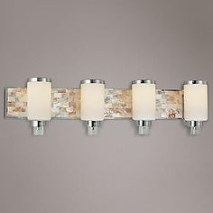 "Bathroom Light Fixtures Damp Location structures nickel 40"" wide bathroom light fixture 