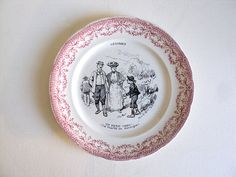 Talking Plate Plate adorned with narrative by LaBelleEpoqueDeco