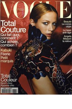 Carolyn Murphy, Mario Testino, march 1998 Ford models on the cover of Vogue Paris Vogue Magazine Covers, Fashion Magazine Cover, Fashion Cover, Vogue Covers, Carolyn Murphy, Mario Testino, Vogue Paris, Missoni, Magazine Mode