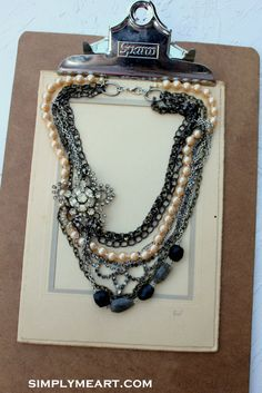 Vintage Rhinestone Pearl and Gemstone Layered by simplymeart, $75.00