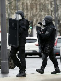 French BRI, a special intervention team of french national police.