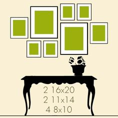Many different wall grouping ideas! - Click image to find more Design Pinterest…
