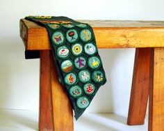 Vintage Girl Scout Sash, Badges 1960s Green Collectibles on Etsy, $56.00
