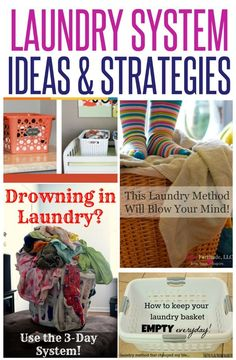 Are you tried of drowning in piles of laundry? Here are five non-traditional approaches to doing laundry and tips and tricks that save precious time! Which one works best for your family? Laundry Room Organization, Organization Hacks, Laundry Rooms, Laundry Closet, Organizing Ideas, Doing Laundry, Laundry Hacks, Laundry Basket Dresser, House Essentials