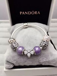 925 Sterling Silver Finished Pandora Charm Bracelet-Flower For You Pandora Bracelet Charms, Sterling Silver Charm Bracelet, Pandora Rings, Pandora Jewelry, Charm Jewelry, Silver Bracelets, Silver Earrings, Beaded Jewelry, Silver Jewelry
