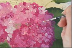 Learn to Paint Hydrangeas Fast and Easy in acrylics. A fun painting tutorial for beginners. Painting hydrangeas is a wonderful way to start painting flowers One Stroke Painting, Tole Painting, Painting & Drawing, Encaustic Painting, Drawing Tips, Acrylic Tutorials, Art Tutorials, Painting Tutorials, Art Floral