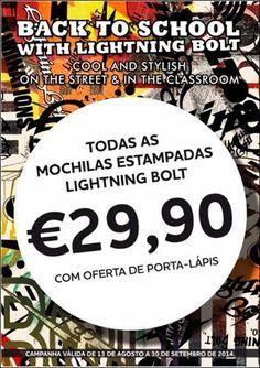 Amostras e Passatempos: Passatempo Regresso às Aulas Lightning Bolt by Sty...