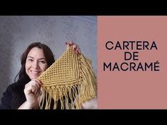 MACRAMÉ portfolio step by step, summer fashion, Cartera de MACRAMÉ paso a paso, moda de verano. Macrame Purse, Macrame Knots, Micro Macrame, Macrame Jewelry, Macrame Patterns, Crochet Patterns, Crochet Video, Crochet Case, Decorative Knots