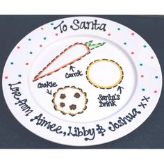 santa plate - Google Search