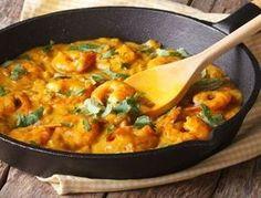 Poêlée de crevettes curry-coco Plus