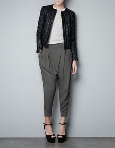 QUILTED LEATHER JACKET - Blazers - Woman - New collection - ZARA United States