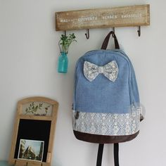 I am so happy to find the New Style Denim Bow Lace  Schoolbag & Backpacks from ByGoods.com. I like it <3!Do you like it,too?