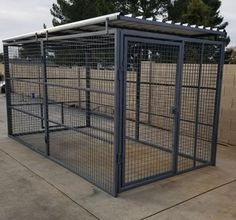 Commercial Quality Outside Dog Kennels Single Runs Commercial Quality Outside D. Commercial Quality Outside Dog Kennels Single Runs Commercial Quality Outside Dog Kennels … Dog Kennel Outside, Dog Kennel Roof, Building A Dog Kennel, Puppy Kennel, Outside Dogs, Diy Dog Kennel, Kennel Ideas, Dog Kennel And Run, Puppy Litter