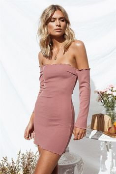 Laine Bodycon Dress  SaboSkirt Bodycon Dresses Off Shoulder Fashion 4364333eb2b2