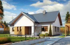 Proiect de casa cu 3 dormitoare si 1 baie - constructie incapatoare pe un singur nivel Shed, Outdoor Structures, Outdoor Decor, Home Decor, Houses, Decoration Home, Room Decor, Home Interior Design, Barns