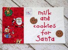 Snack Mat for Santa, Snack Mat for Santa Claus, Cute Keepsake | daisydoodleembroidery - Seasonal on ArtFire