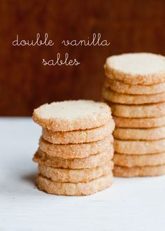 Cafe Johnsonia: Double Vanilla Sables Cookies {Heilala Vanilla Giveaway}