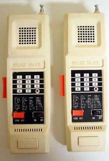 Before cell phones there wereWalkie Talkies. My brother had some I thought they were soo cool!